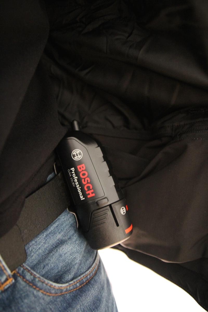 veste chauffante fonctionnement sur batterie