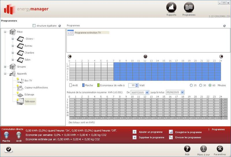 programmation modules Energy manager