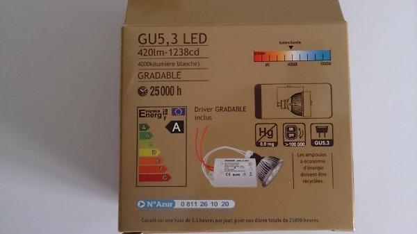 equiper un spot d 39 ampoules led ou halog ne. Black Bedroom Furniture Sets. Home Design Ideas