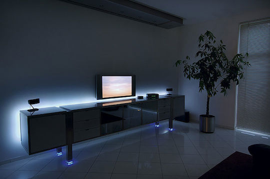 ruban led eclairez autrement en installant un bandeau led. Black Bedroom Furniture Sets. Home Design Ideas