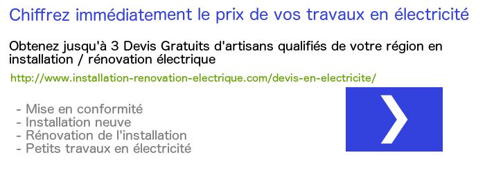 prenons lexemple dune prise lectrique spcialise 20a en encastr - Prix Pour Refaire L Electricite D Une Maison