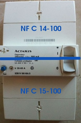 NFC 14-100 AGCP disjoncteur de branchement de l'installation électrique