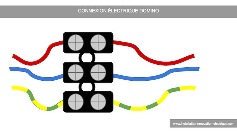 Domino lectrique comprendre brancher choisir - Installer plafonnier branchement des fils ...