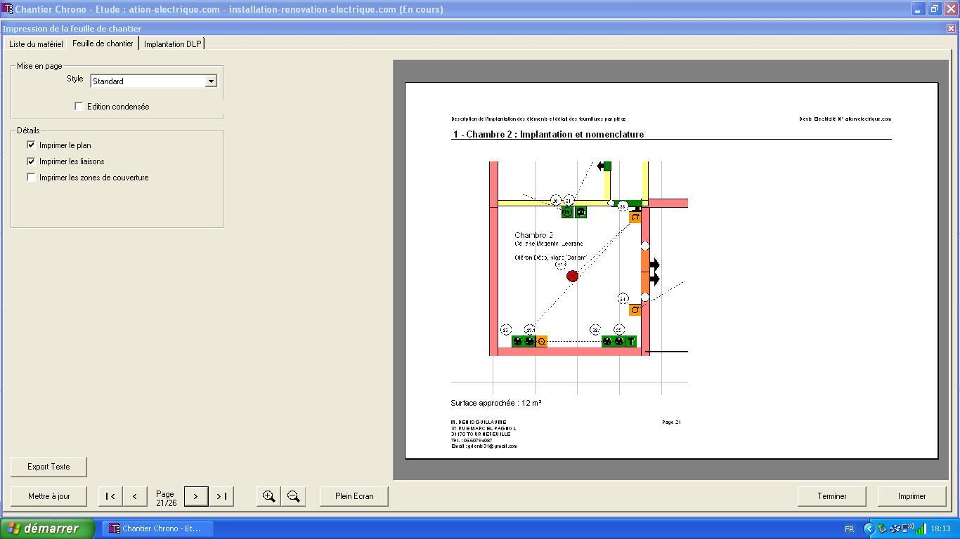 logiciel pour installation lectrique domestique chantier. Black Bedroom Furniture Sets. Home Design Ideas
