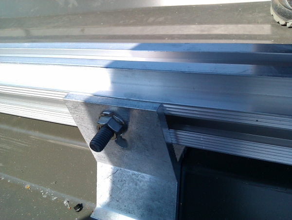 liaison cavalier rail bac acier