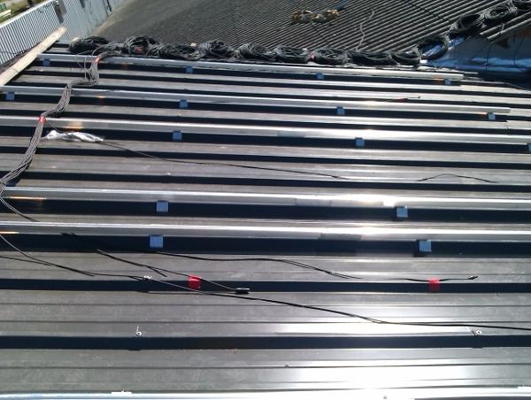 bac acier panneaux solaire