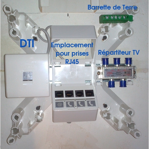 installer un coffret de communication rj45 grade 3 en image. Black Bedroom Furniture Sets. Home Design Ideas