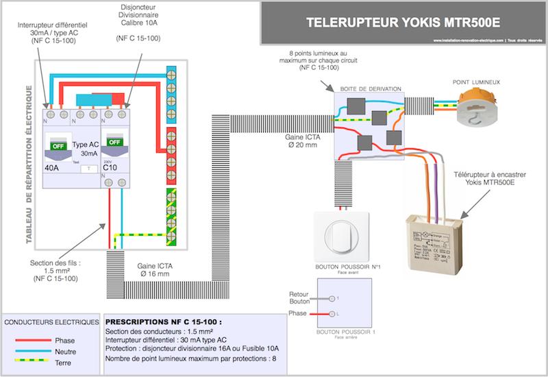 schema cablage et branchement de tableau electrique maison ... - Cablage Salle De Bain
