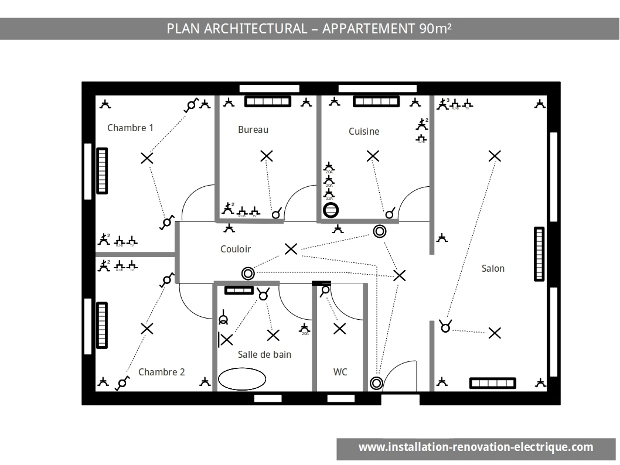 installation électrique schéma électrique architectural