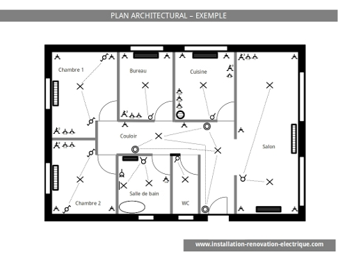 Plan électrique architectural
