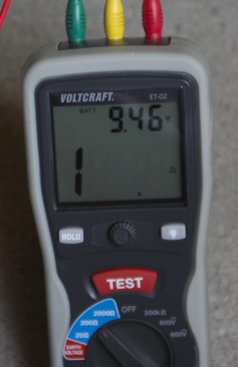 Testeur de terre voltcraft et 02 test et avis du mesureur - Cablette de terre ...