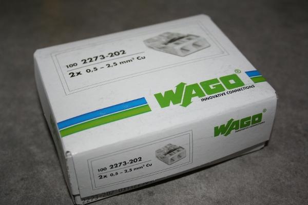 Boite de wago pour la connexion des fils électriques