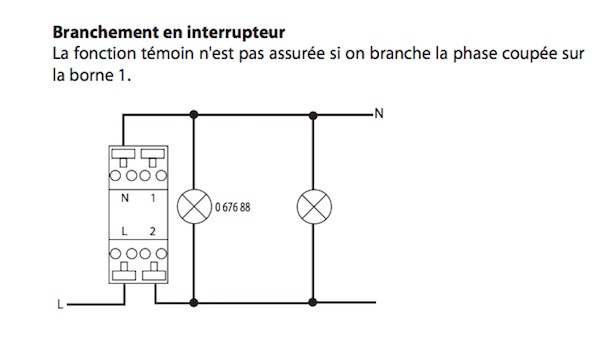 branchement interrupteur simple allumage notice schema electrique