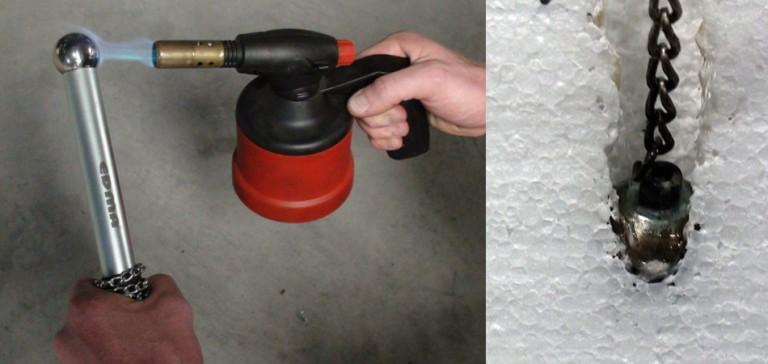 Boule chauffante d'électricien: Passer les câbles dans des cloisons placo/polystyrène