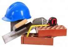 Les matériaux sur un chantier d'électricité