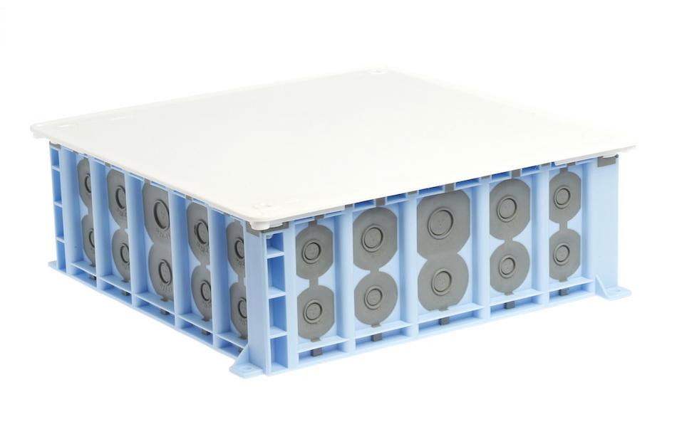 Boitier de dérivation Prises de courant Bloc Flair construction-Montage-Prise de courant 45 ° fléchies