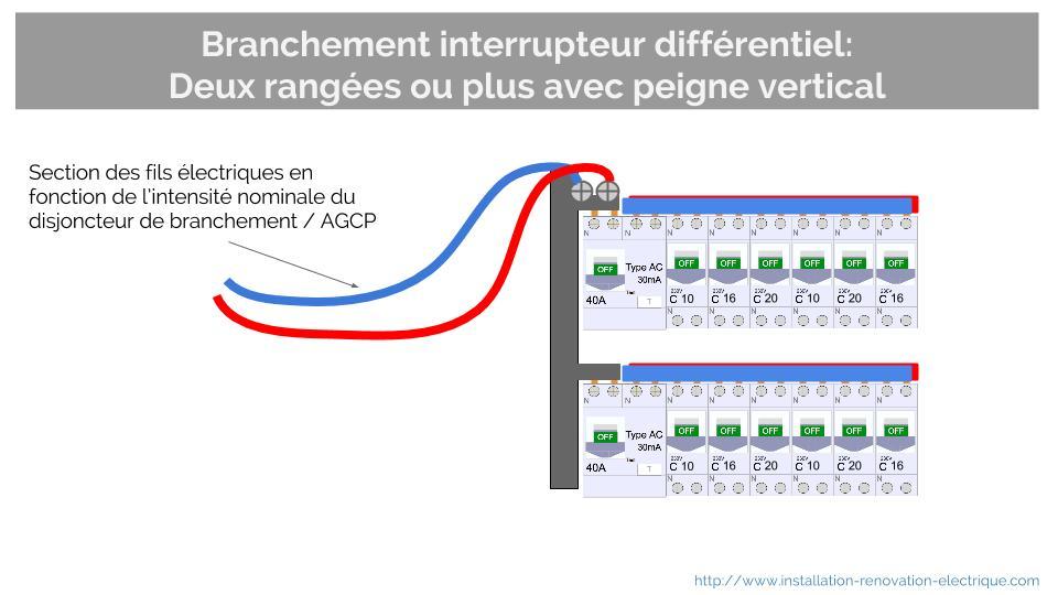Marvelous schema interrupteur differentiel 30ma 3 branchement interrupteur differentiel peigne - Branchement disjoncteur differentiel ...