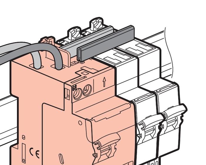 protection différentielle Legrand 30mA connexion par le haut