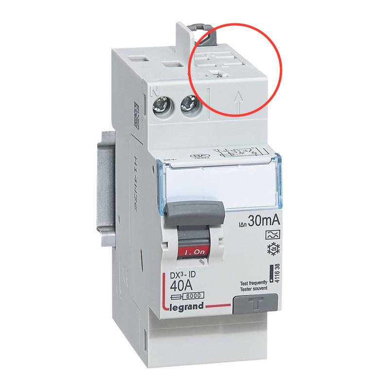 interrupteur differentiel connexion auto depart