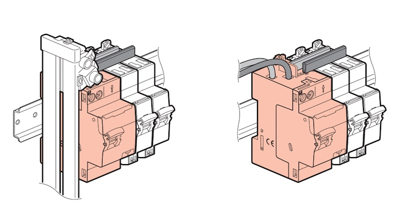 Connexion d'un interrupteur différentiel Legrand 40a par le haut