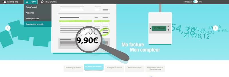 site comparaison puissance abonnement ERDF
