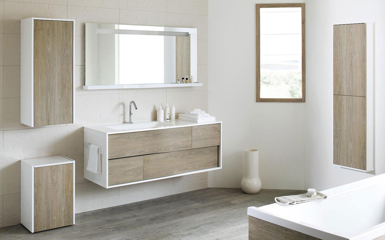 Les nouveaux volumes dans la salle de bain a5 nf c 15 100 for Armoire douche
