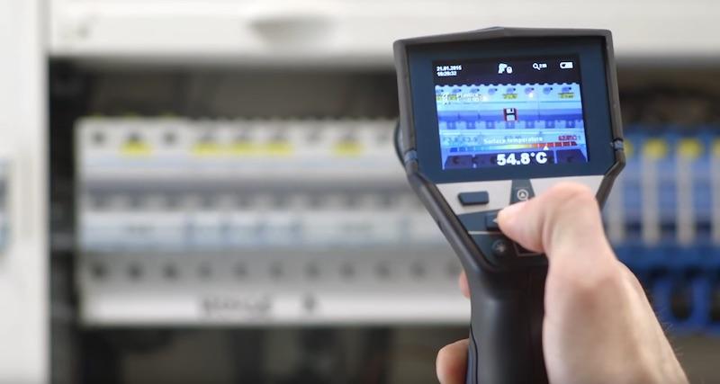 GIS 1000C mesure temperature tableau electrique