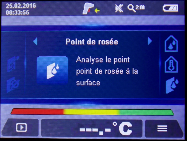 Mesure humidite point rosee GIS1000C Bosch