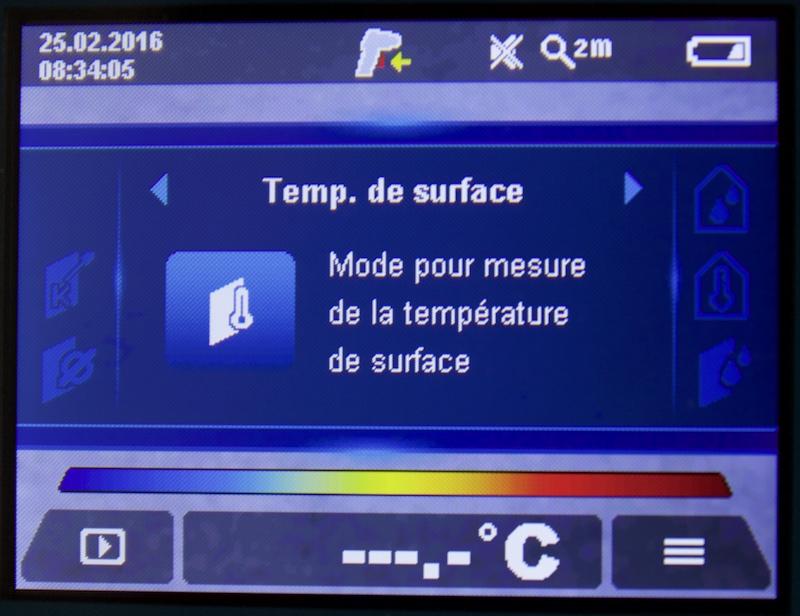 Mesure temperature surface GIS-1000C