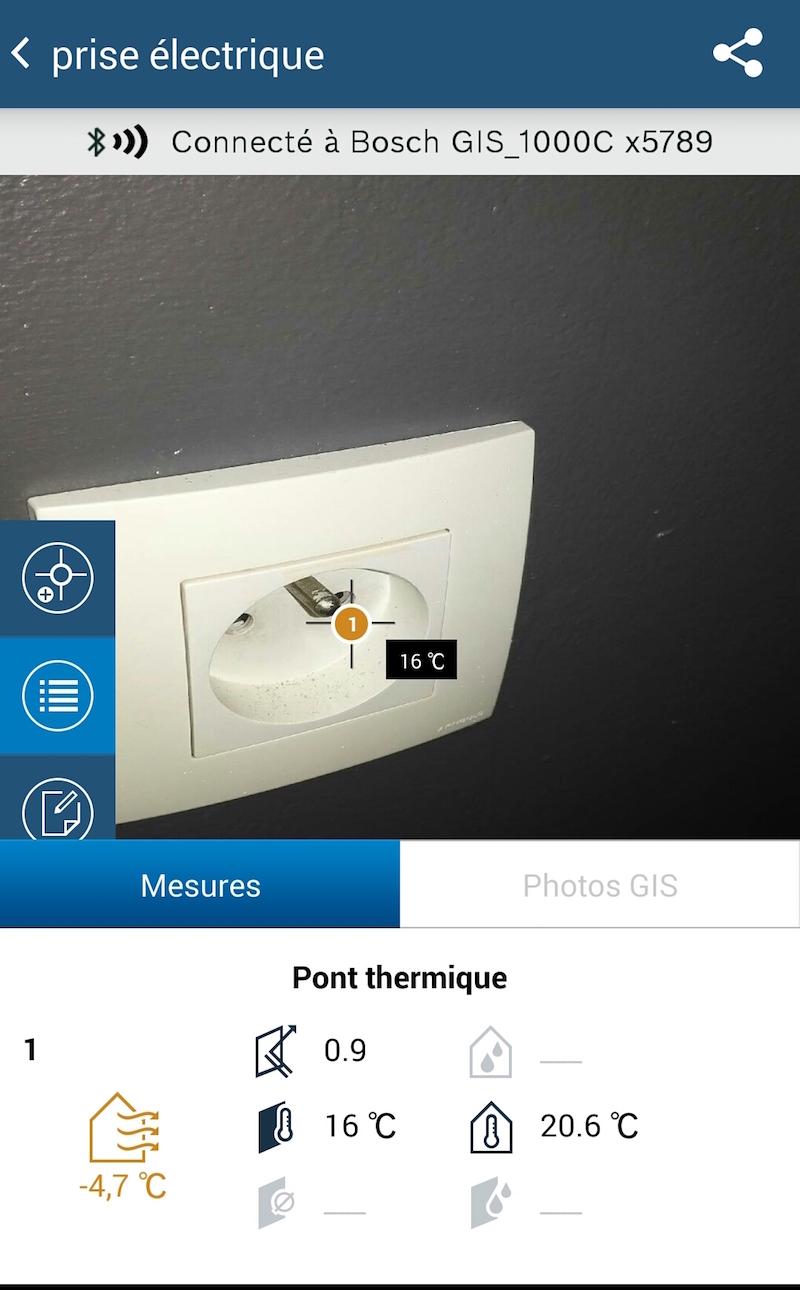 mesure prise electrique pont thermique