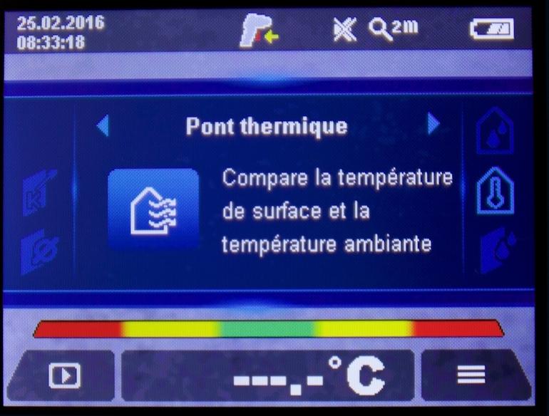 pont thermique mesure détecteur thermique GIS-1000C