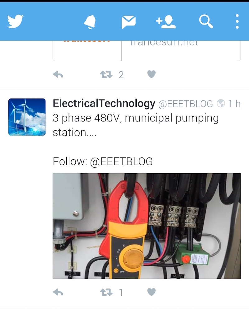 tweet securite electricite