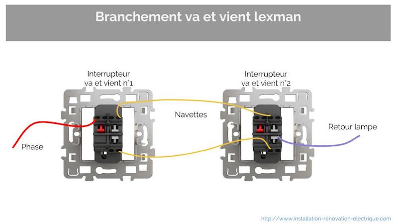 va et vient sch ma lectrique plan branchement tout savoir. Black Bedroom Furniture Sets. Home Design Ideas