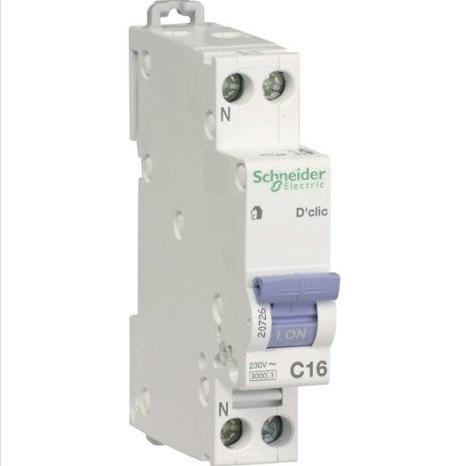 disjoncteur 16A circuit prise électrique 1.5 mm2