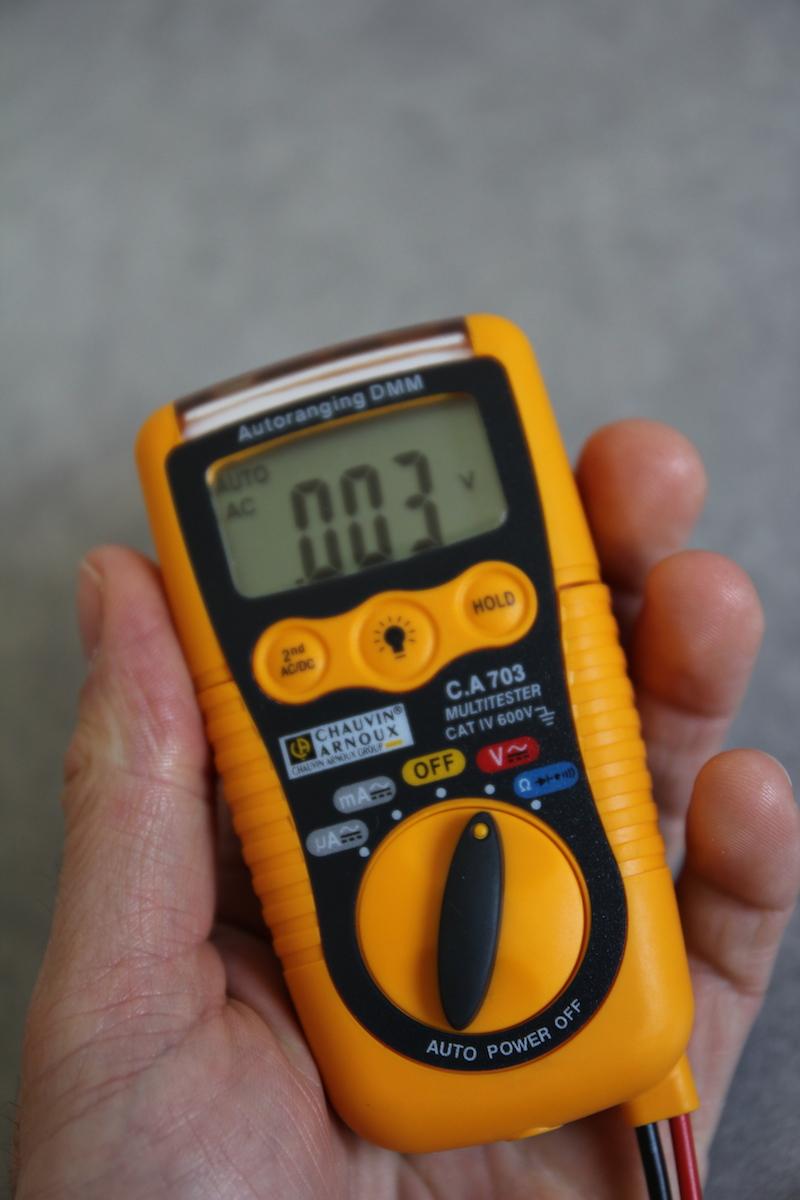 ecran multimetre chauvin arnoux CA 703