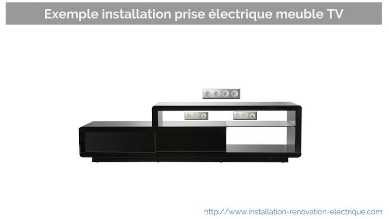 prise lectrique pour le meuble tv conseils d 39 installation. Black Bedroom Furniture Sets. Home Design Ideas