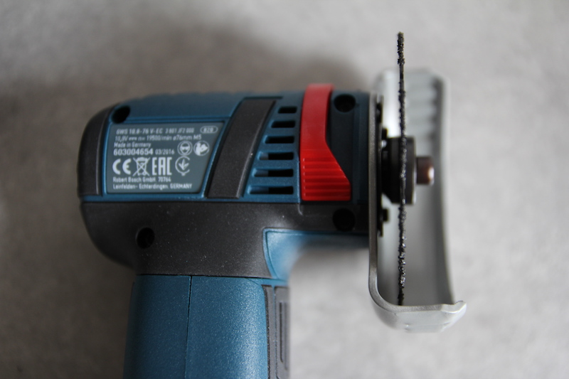 remplacement facile disque meuleuse Bosch GWS 108V 76V EC