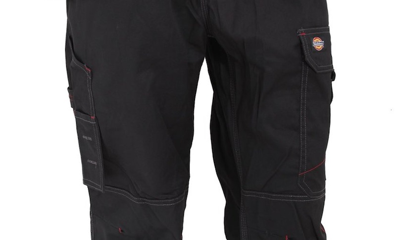 poches laterales pantalon chantier homme dickies