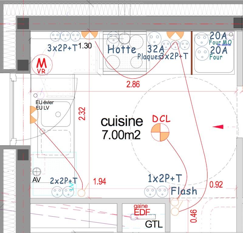 Le circuit sp cifique des prises de courant de la cuisine for Norme nfc 15 100 cuisine