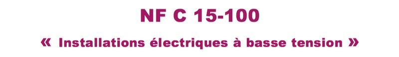 nfc15100 norme electrique A5 document technique UTE