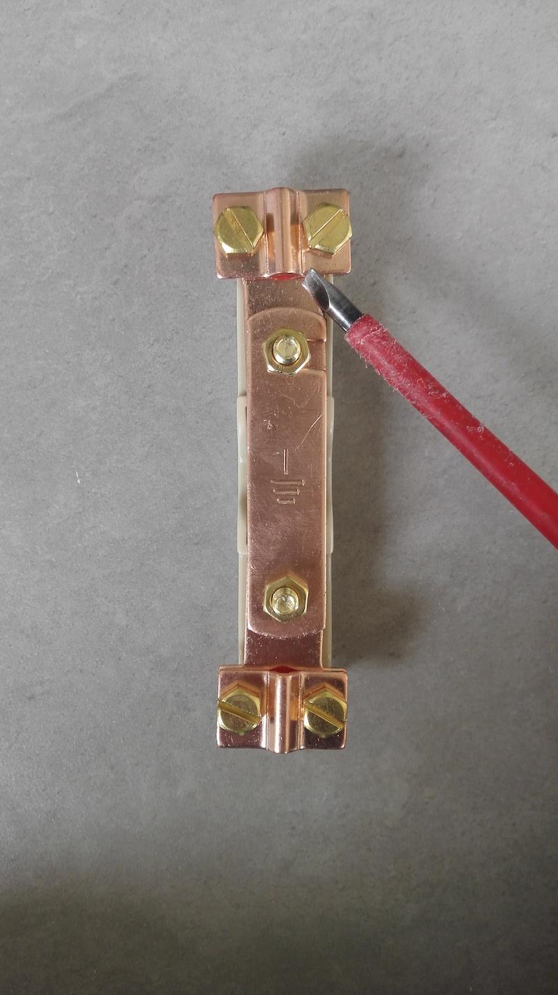 barrette de terre cuivre partie cable tableau electrique