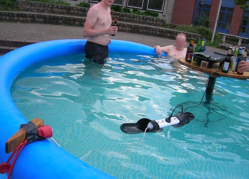 danger installation electrique piscine