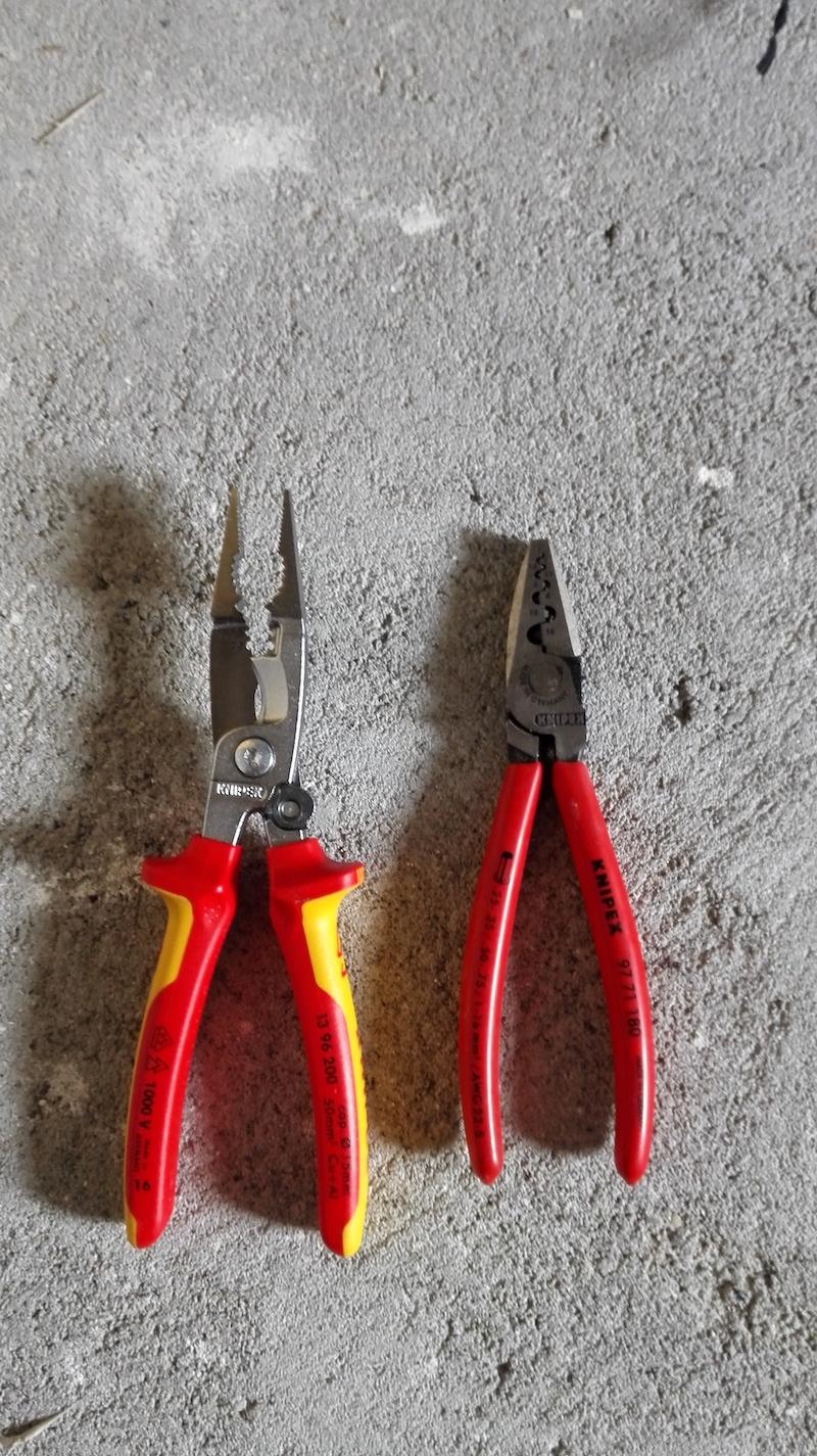 knipex 13-96-200 vs pince electricien sertir 97 71 80