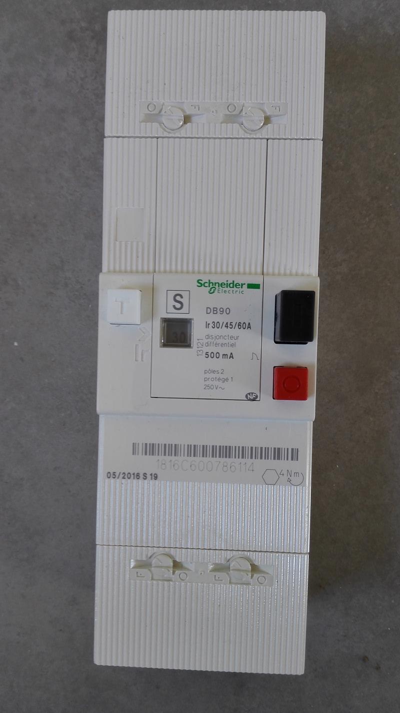 regler disjoncteur de branchement 500mA