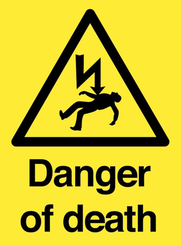 danger mort electrisation electrocution