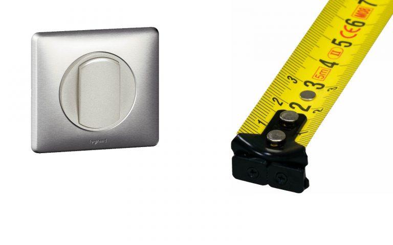 Hauteur de l'interrupteur: Norme et emplacement