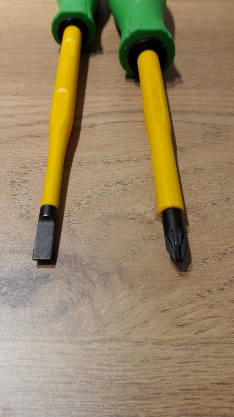tournevis isolés e-robur plat slim