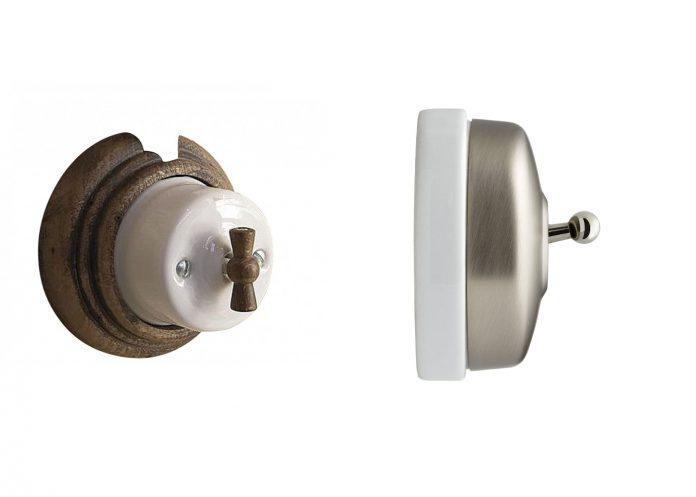 appareillage électrique fontini interrupteur en porcelaine retro