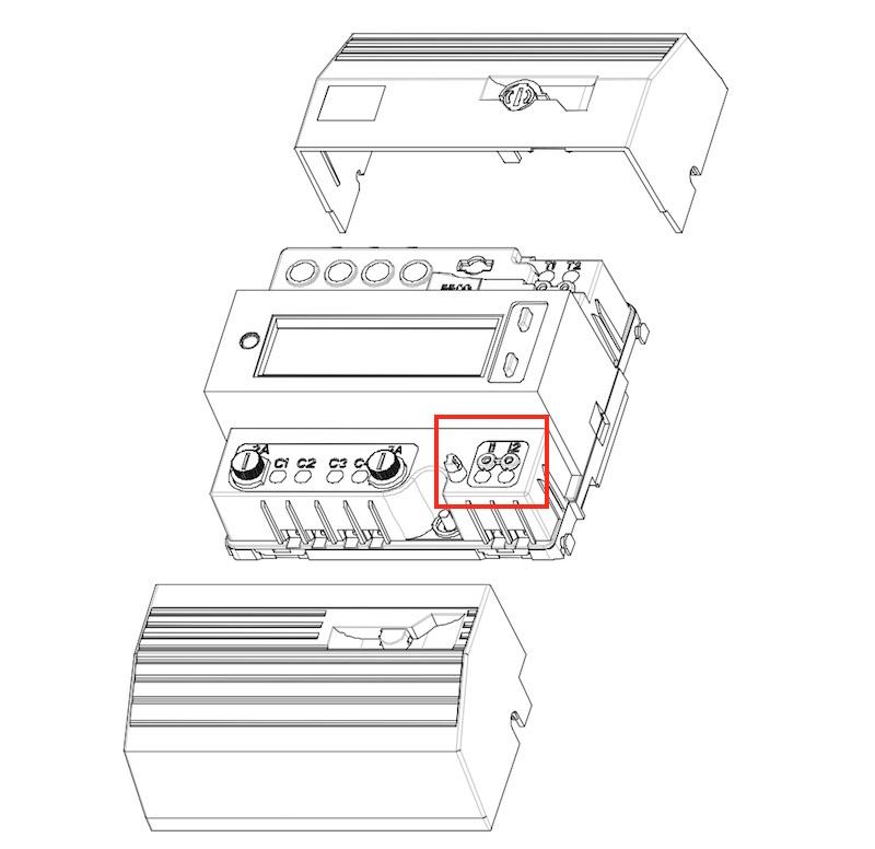 connexion délesteur électrique compteur téléinformation
