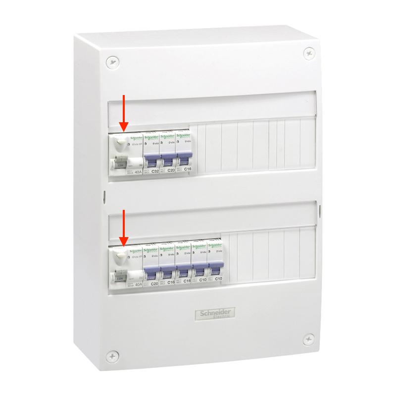 panne électrique fuite de courant interrupteur différentiel